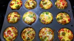 Mini Vegetable Egg Cups from the 21 Day Fix Extreme Eating Plan guide. They were SUPER simple to make and will make it that much easier to stick to my meal plan!