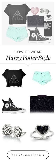 """O55. I only love you when it's half past one"" by singing-dancing-sirena on Polyvore featuring Converse, Chamilia, Kevin Jewelers and SingingDancingFashion"