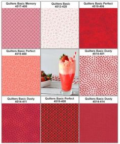 Stoffpaket Quilters Basic rot