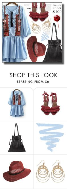 """""""Dresses Under $100"""" by meyli-meyli ❤ liked on Polyvore featuring Goorin, M&Co, under100, yoins, yoinscollection and loveyoins"""