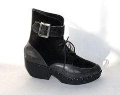 vtg avant garde clog boot  size 7 71/2 8 by TIGHTPRESSED on Etsy