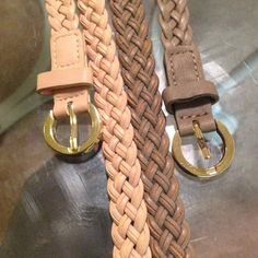 2 fashion belts Final Markdown Belts from Aldo size medium in great condition. Gold tone hard wear one is pale pink and the other is light brown. ALDO Accessories Belts