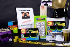secret agent party box