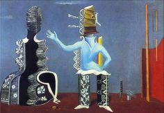 Max Ernst, The Couple in Lace, 1925, oil on canvas