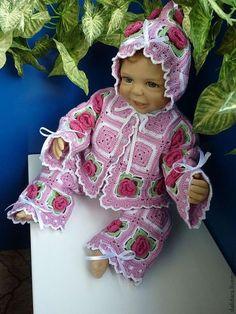 Для новорожденных, ручной работы. Ярмарка Мастеров - ручная работа. Купить Костюм для малыша «Цветочное дитя», с розами. Handmade. Костюмчик