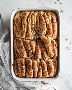 We wish we could pull apart this delicious bread with garlic butter and fresh herbs with you all because it tastes fantastic! 🌱 These are the small things in our everyday life which make us happy! 🤗  #pullapartbread #herbalbutter #herbsfromthegarden #tastingtable #beautifulcuisines #thrivemags #feedfeed #thekitchn #flourwateryeast #feedfeedbaking #food52 #thebakefeed #onthetable #foodphotography #bakinglove #eatandshare #bakeandshare #homebaker Pull Apart Bread, Tasting Table, Garlic Butter, Food 52, Small Things, Fresh Herbs, Herbalism, French Toast, Food Photography