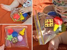 Sensory Water bag. Great calming activity, infant/toddler activity, sensory activity. I love this.
