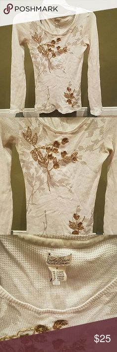 Lucky Brand long sleeve thermal with design size S . Lucky Brand Tops Tees - Long Sleeve