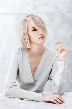 one concept RED Collection is here! Perfect Blonde, Fashion Images, Hair Looks, Short Hair Styles, Bob, Hair Color, Collections, Concept, Beauty