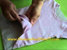 ▶ Trucos para Pintar en Tela *Paint on Fabric* Trucos Pintar Camisetas Pintura en Tela Pintura Facil - YouTube
