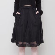Fishnet A-Line Skirt FW15 | 7115 by Szeki