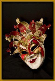 Image detail for -Commedia dell'Arte - Venetian Masks Jester Mask, Clown Mask, Venetian Masquerade Masks, Venetian Carnival Masks, Venitian Mask, Stock Character, Costume Venitien, Steampunk Mask, Venice Mask