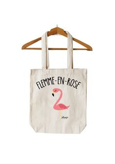 """Tote Bag """"Flemme en Rose"""""""