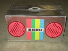Home made DJ Lance Rock boom box-craft idea....cute photo booth prop