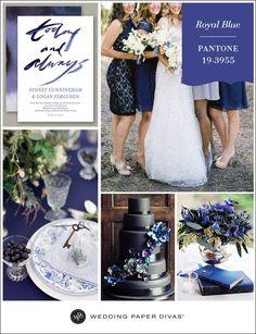 El color azul real aportará todo el estilo y la innovación en nuestra boda