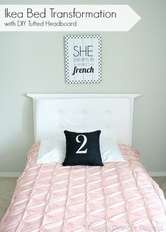 Upcycled Ikea Bed with DIY Tufted Headboard