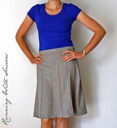 Pintuck Secretary Skirt