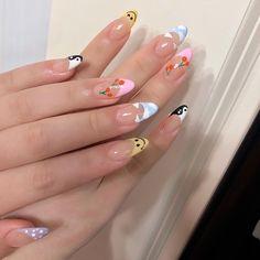 Cute Gel Nails, Funky Nails, Glue On Nails, Funky Nail Art, Pretty Nail Art, Shellac Nails, Manicure, Simple Acrylic Nails, Best Acrylic Nails