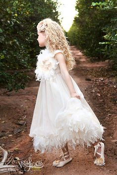 Cream Puff Taupe Feather Dress