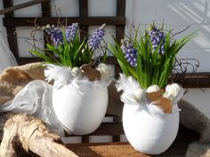 4 Seasons Home Deco: Ostern & Frühling 2014 Easter Flower Arrangements, Easter Flowers, Beautiful Flower Arrangements, Homemade Crafts, Diy And Crafts, Diy Ostern, Beltane, Egg Art, Egg Decorating
