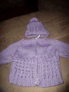 New born handknit sweater and hat by inspirebynancy on Etsy, $30.00