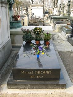 Blog posts with quotes: http://thesecretkeeper.net/category/marcel-proust/ --- Marcel Proust's grave in Père Lachaise.