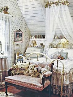 A bedroom for the children at the quaint little cottage.