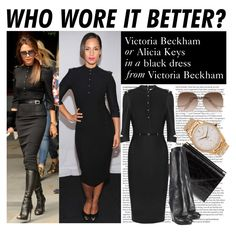 Who Wore It Better: Victoria Beckham or Alicia Keys by polyvore-editorial, via Polyvore