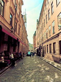 I could walk through these streets all day @ Old Town in Stockholm