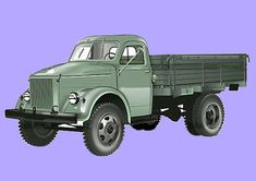 GAZ 51 4x4 Truck (nickname Gazon), a well known Soviet truck, the papercraft is created by NOVA, and the scale is in 1:43.  Its first prototypes were produced before the end of World War II, and mass production started in 1946.