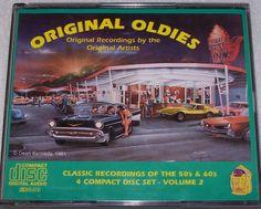 Original Oldies Hits 50's 60's Vol 2 Little Eva Coasters Richie Valens 4 CD Set #RockandRoll