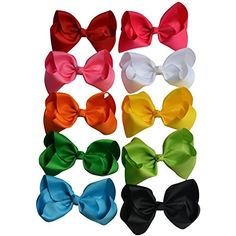 Bzybel Boutique 7.5'' Big Large Hair Bows Grosgrain Ribbon Jumbo Bows Headbands Hair Clips for Young Girls Teens young Women >>> Learn more by visiting the image link.