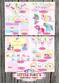 My Little Pony inspired printable party. All you need to have a wonderful birthday party.. $17.50, via Etsy.