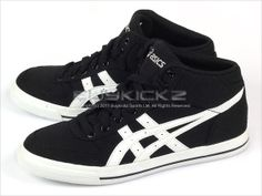 Asics Aaron MT CV Black White Canvas Classic 2011 Mid Top H009N 9001 | eBay