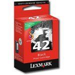 Lexmark No. 42 Black Ink Cartridge by Lexmark. $19.95. Product Name: No. 42 Return Program Black Ink Cartridge. Marketing Information: Ink cartridge is designed for use with the Lexmark X4850, X4875, X4950, X4975, X6570, X6575, X7550, X7675, X9575 and Z1520. Evercolor2 ink, a unique formulation of pigment-based color ink, combines exceptional resilience with improved archivability. Evercolor2 ink is water-resistant, fade-resistant, humidity-resistant and highli...