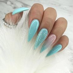 50 Incredible Ombre Nail Designs That Will Look Amazing In Every Season - Nails - Nageldesign Perfect Nails, Gorgeous Nails, Pretty Nails, Ombre Nail Designs, Nail Art Designs, Ongles Bling Bling, Stiletto Nail Art, Best Acrylic Nails, Dream Nails