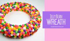 Spring craft jelly bean wreath DIY @clubchicacircle