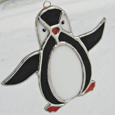 Penguin Stained Glass Suncatcher