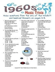 60th Birthday Games 50th Birthday Games 60th Birthday Party Music Trivia