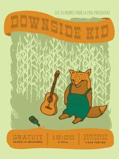 DOWNSIDE KID 14 décembre 2013 @ Dépanneur Sylvestre Hull, Canada #poster #design #show #music #illustration #gigposter