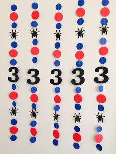 Spiderman Birthday Decorations Spider-Man by anyoccasionbanners 2 Birthday, Birthday Garland, 1st Birthday Decorations, Superhero Birthday Party, Mickey Mouse Birthday, Spider Man Party, Spiderman Theme, Avengers Birthday, Party Themes