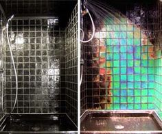 A shower where the tiles change colors! Badass. Ravin' in the shower ^0^