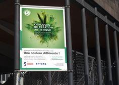 """Création de l'identité visuelle de l'évènement """"Concours de création artistique"""" de Sorbonne Université."""