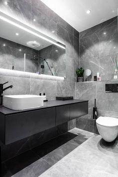 Blue velvet sofa and bold bedroom: modern apartment in Stockholm PUFIK. - Blue velvet sofa and bold bedroom: modern apartment in Stockholm PUFIK. Modern Bathroom Design, Bathroom Interior Design, Modern Interior Design, Modern Bedroom, Marble Interior, Modern Sofa, Modern Bathrooms, Modern Luxury Bathroom, Bedroom Decor