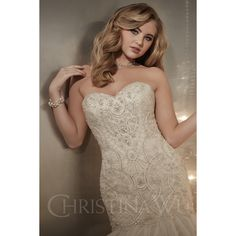 Bridal Gown Available at Ella Park Bridal   Newburgh, IN   812.853.1800   Christina Wu - Style 15575
