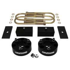 2005-2011 Dodge Dakota Full Suspension Leveling Kit. Includes front strut spacers, lift blocks, extended length u bolts, shims, and install instructions
