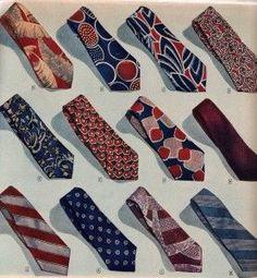 1940s men's ties, neckties