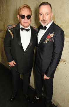 Elton John et David Furnish aux GQ Men of the Year Awards 2016