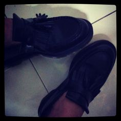 My shoes ... Dr Martens shiny loafers