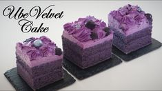 Ube Cake is a traditional Filipino chiffon cake or sponge cake made with ube halaya. It is distinctively vividly purple in color, like most dishes made with . Ube Chiffon Cake Recipe, Ube Macapuno Cake Recipe, Easy Cake Recipes, Dessert Recipes, Pinoy Cake Recipe, Ube Cupcake Recipe, Bread Recipes, Filipino Desserts, Filipino Recipes